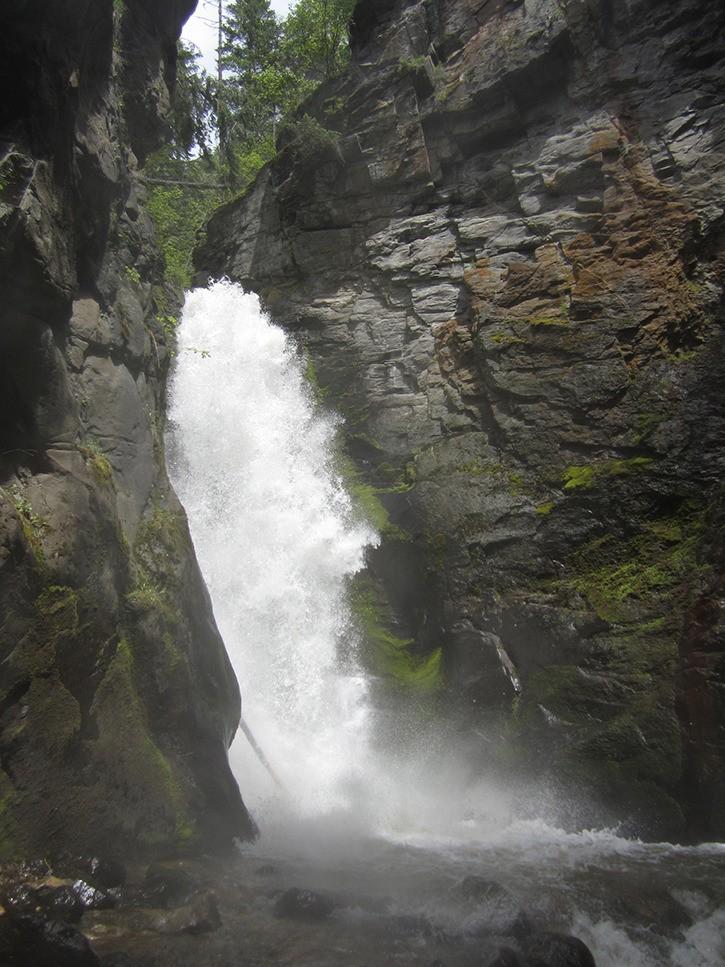 Located 20 kilometres northwest of Castlegar
