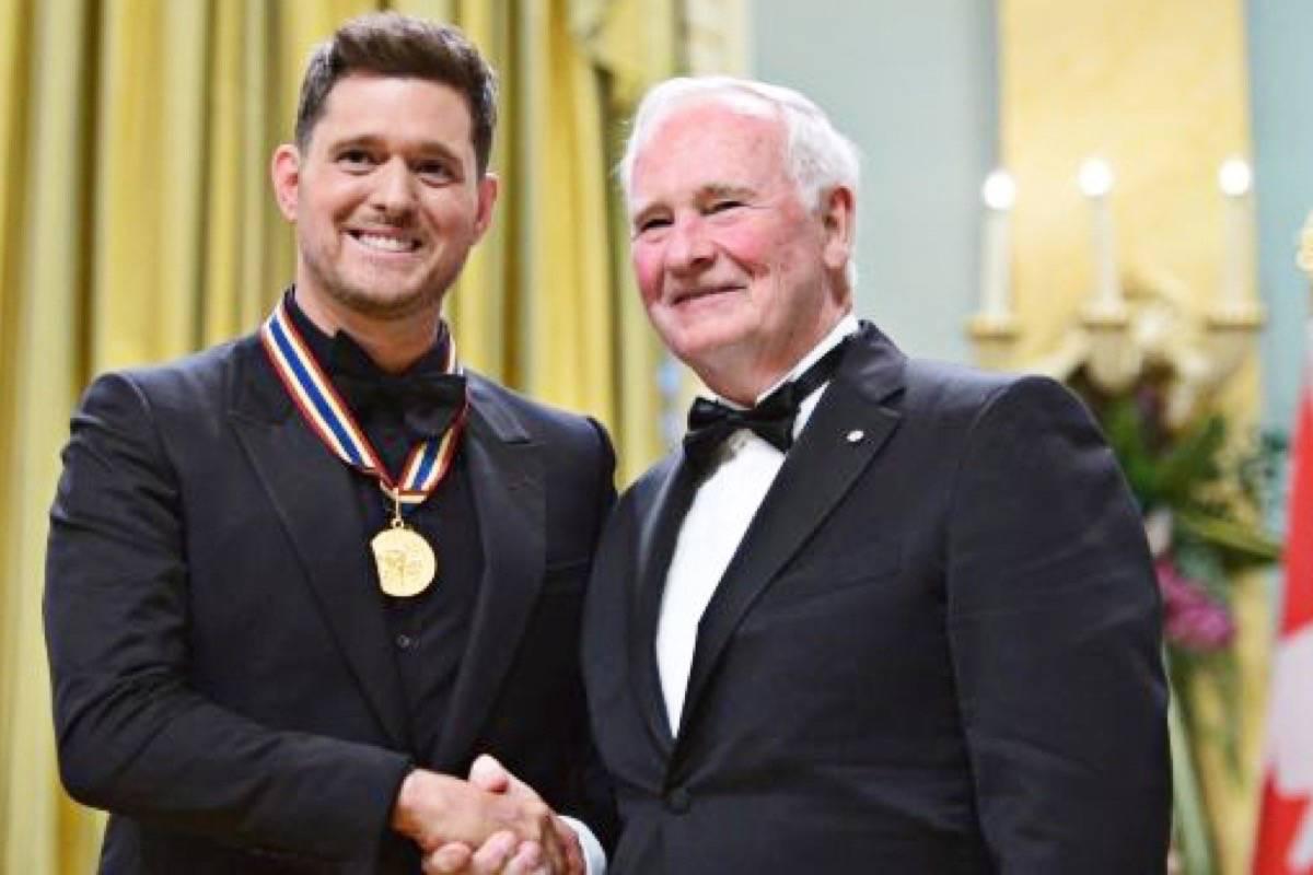 Michael Buble honoured at gala in Ottawa